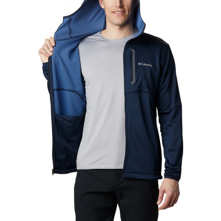 Мъжки суитшърт - Columbia TECH TRAIL FULL ZIP HOODIE - 7