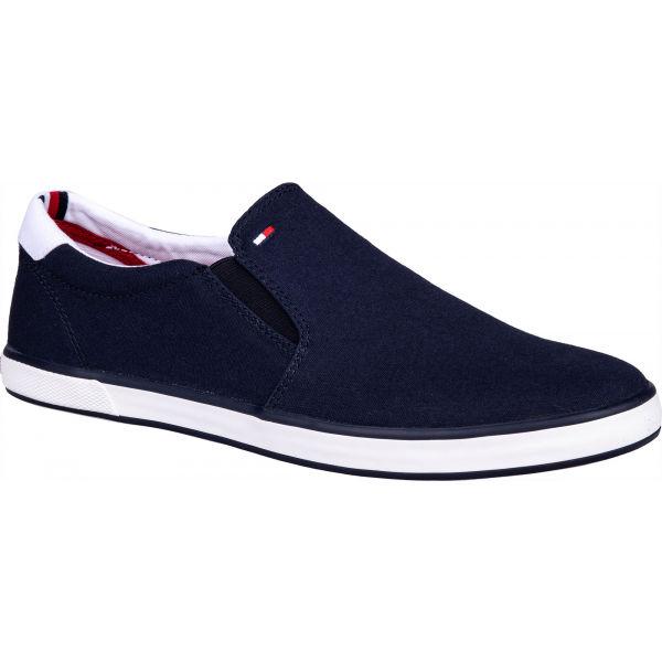 Tommy Hilfiger ICONIC SLIP ON SNEAKER tmavo modrá 44 - Pánska slip-on obuv