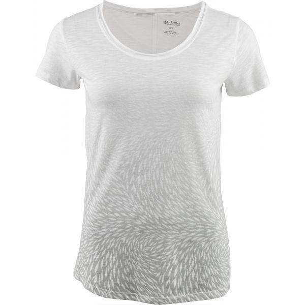 Columbia OCEAN FADE SHORT SLEEVE TEE biały S - Koszulka damska