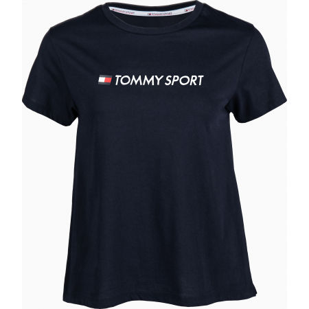 Tommy Hilfiger COTTON MIX CHEST LOGO TOP - Dámske tričko
