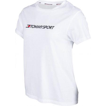 Dámske tričko - Tommy Hilfiger COTTON MIX CHEST LOGO TOP - 2