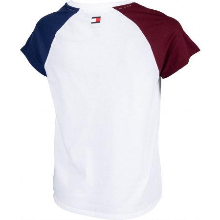 Dámske tričko - Tommy Hilfiger COTTON MIX TOP LOGO - 2