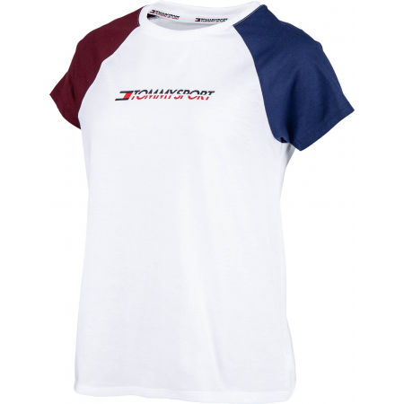 Tommy Hilfiger COTTON MIX TOP LOGO - Дамска тениска
