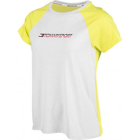 Dámské tričko - Tommy Hilfiger COTTON MIX TOP LOGO - 2