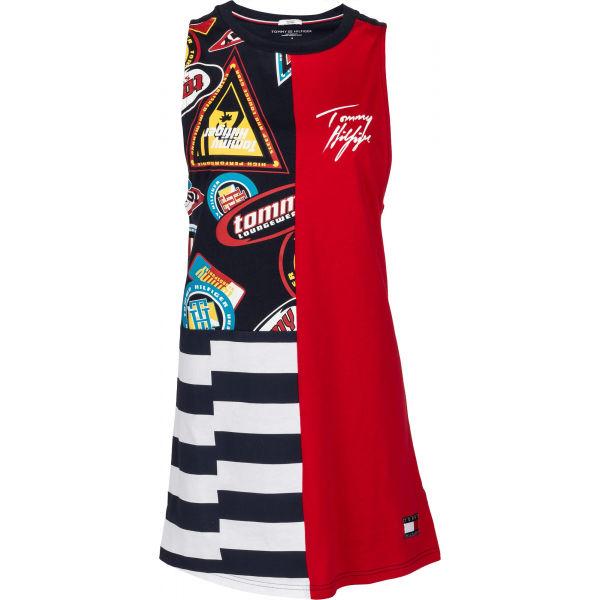 Tommy Hilfiger DRESS PRINT červená L - Dámske šaty