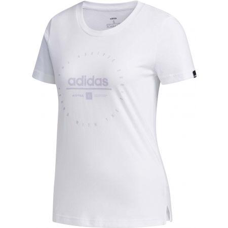adidas W ADI CLOCK TEE - Koszulka damska