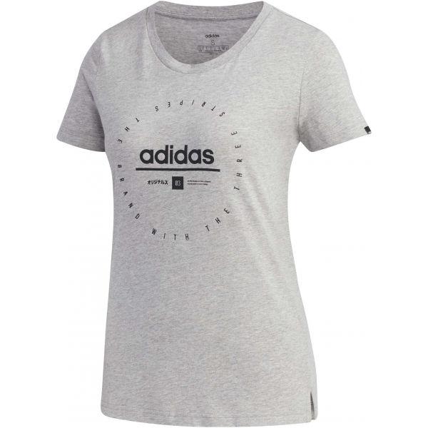 adidas W ADI CLOCK TEE szary S - Koszulka damska