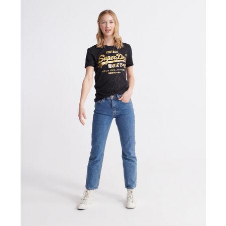 Дамска тениска - Superdry PG SNAKE BURNOUT ENTRY TEE - 4
