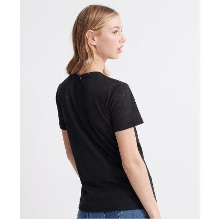 Дамска тениска - Superdry PG SNAKE BURNOUT ENTRY TEE - 2