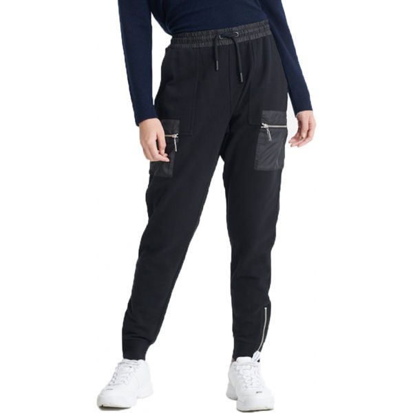 Superdry CARGO JOGGER negru 10 - Pantaloni de trening damă