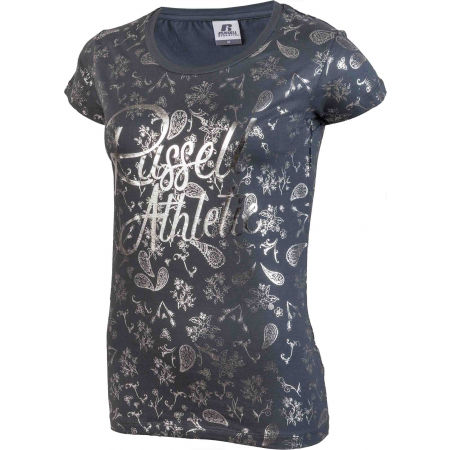 Dámske tričko - Russell Athletic AOP S/S CREWNECK TEE SHIRT - 2