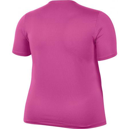 Dámske tričko plus size - Nike TOP SS ALL OVER MESH PLUS W - 2