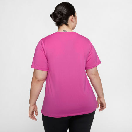 Dámske tričko plus size - Nike TOP SS ALL OVER MESH PLUS W - 4