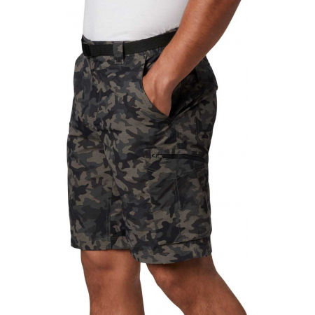 Мъжки къси панталони - Columbia SILVER RIDGE PRINTED CARGO SHORT - 1