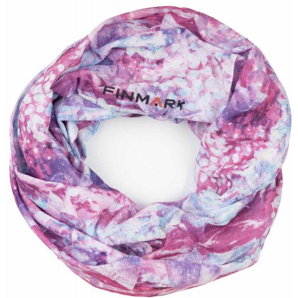 Finmark FS-013 růžová UNI - Multifunkční šátek