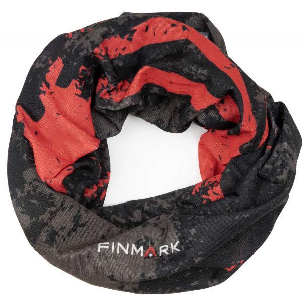 Finmark FS-001 černá UNI - Multifunkční šátek