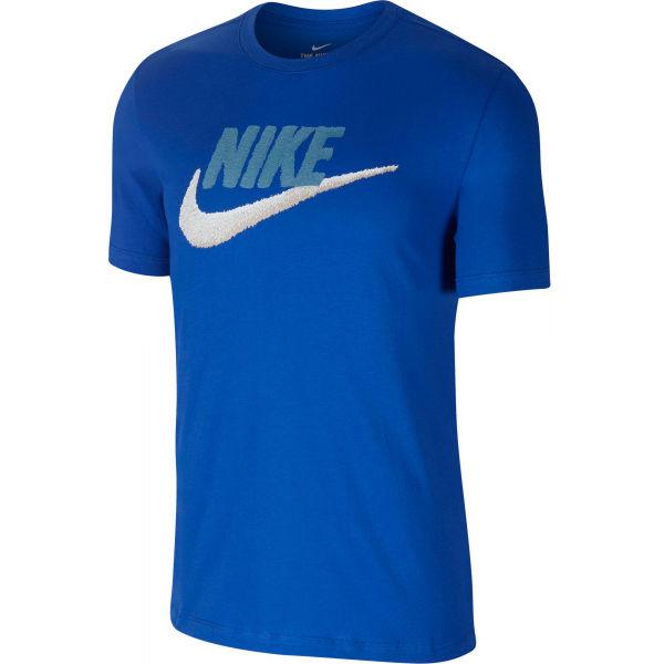 Nike NSW TEE BRAND MARK M modrá L - Pánské tričko
