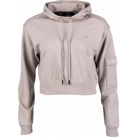 Calvin Klein CROPPED HOODIE - Női pulóver