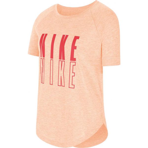Nike SS TROPHY GFX TOP G oranžová M - Dívčí tričko