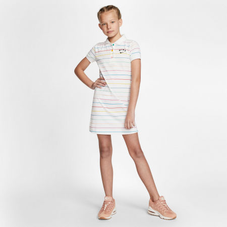 Dívčí šaty - Nike NSW DRESS POLO FB G - 7