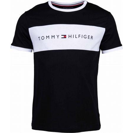 Pánske tričko - Tommy Hilfiger CN SS TEE LOGO FLAG - 1