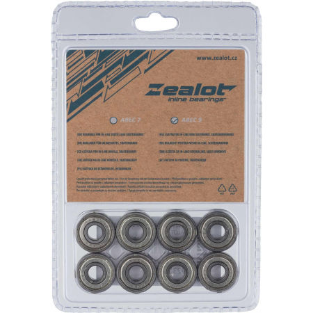 Zealot ABEC 9 CHROM SET - In-line bearings