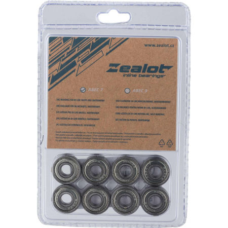 Zealot ABEC 7 CHROM SET - In-line bearings