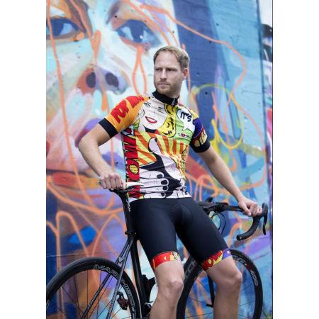 Pánske cyklistické kraťasy s trakmi - Rosti POP ART - 4