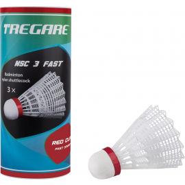 Tregare NSC 3 FAST WHITE - Fluturași badminton