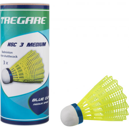 Tregare NSC 3 MEDIUM YELLOW - Badminton-Federbälle