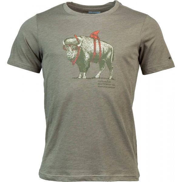 Columbia M PINEY FALLS GRAPHIC TEE šedá M - Pánske tričko