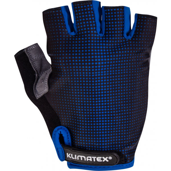 Klimatex RIELI modrá L - Pánske cyklistické rukavice