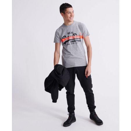Мъжка тениска - Superdry VL CROSS HATCH TEE - 4