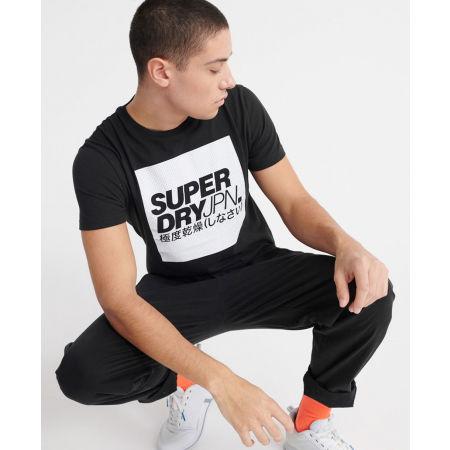 Pánske tričko - Superdry JPN BLOCK TEE - 4