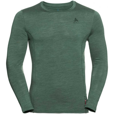 Odlo SUW MEN'S TOP CREW NECK L/S NATURAL+ LIGHT - Tricou bărbați