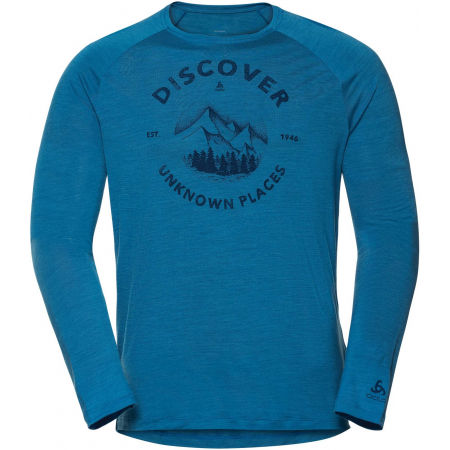 Odlo MEN'S T-SHIRT L/S CREW NECK CONCORD - Men's T-shirt