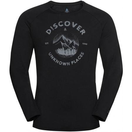 Odlo MEN'S T-SHIRT L/S CREW NECK CONCORD - Мъжка тениска