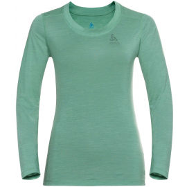 Odlo SUW WOMEN'S TOP CREW NECK L/S NATURAL+ LIGHT - Tricou de damă