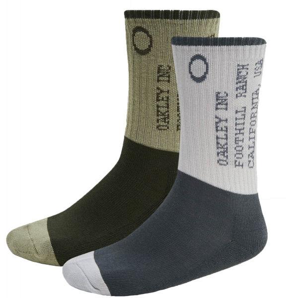 Oakley ICONIC OAKLEY SOCKS (2 PCS) bílá 42-46 - Ponožky