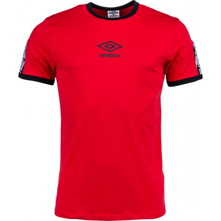 Pánske tričko - Umbro RINGER TAPED LOGO TEE - 1