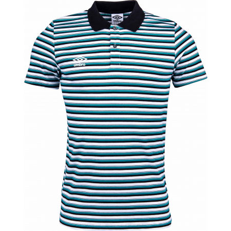 Umbro STRIPE COTTON POLO - Pánske polo tričko