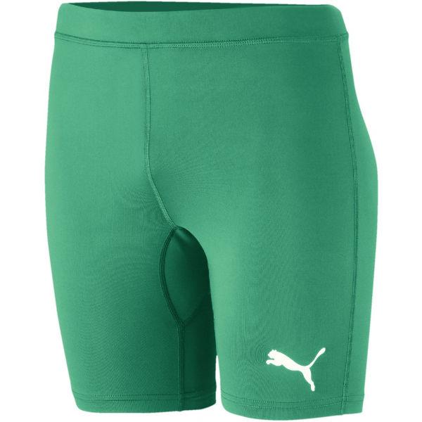 Puma LIGA BASELAYER SHORT TIGH JR zelená 128 - Detské športové šortky