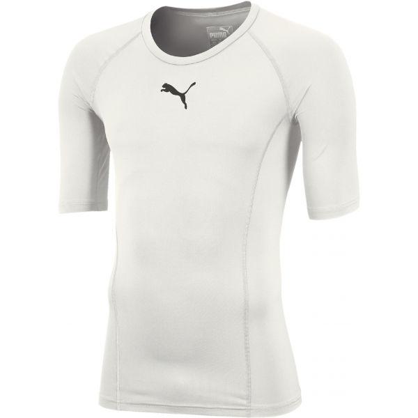 Puma LIGA BASELAYER TEE SS JR biela 128 - Chlapčenské funkčné tričko