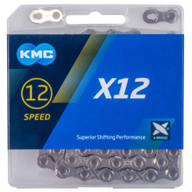 KMC cutie argintie X-12; - Lanț bicicletă
