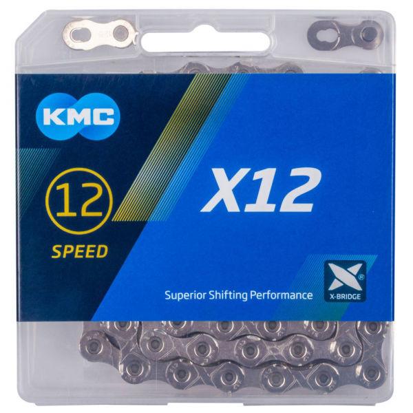 KMC X-12 STRIEBORNÝ BOX - Reťaz na bicykel