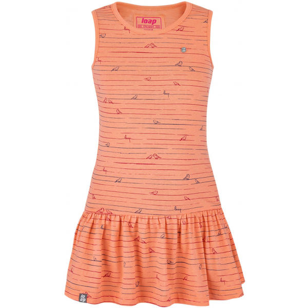 Loap BARISA narancssárga 112-116 - Lány ruha