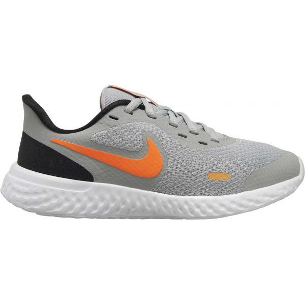 Nike REVOLUTION 5 (GS) šedá 6Y - Dětská běžecká obuv
