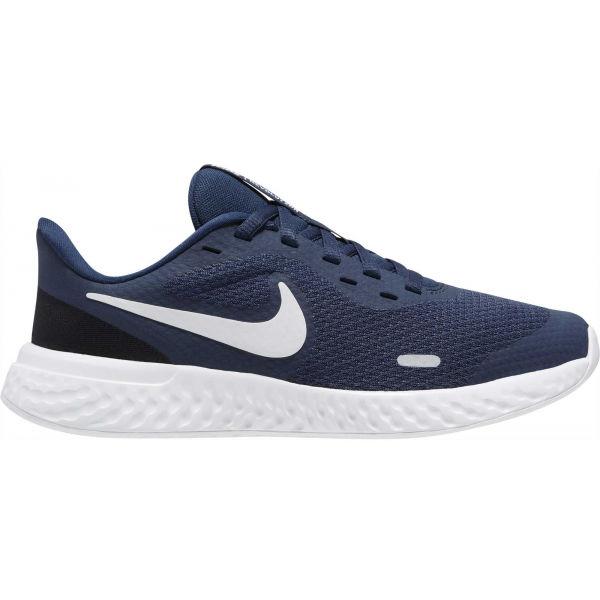 Nike REVOLUTION 5 (GS) tmavě modrá 4.5Y - Dětská běžecká obuv