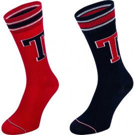 Tommy Hilfiger MEN TH PATCH SOCK 2P - Pánske ponožky