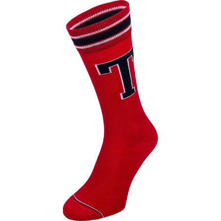Pánske ponožky - Tommy Hilfiger MEN TH PATCH SOCK 2P - 2